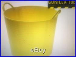 100 x Gorilla Tubs Work Trugs LARGE 38L Builders Buckets GORTUB38 YELLOW