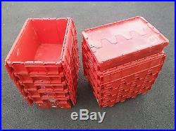 100x Large Boxes, Removal Packing Storage Crate, Tote Box, Container, Stackable