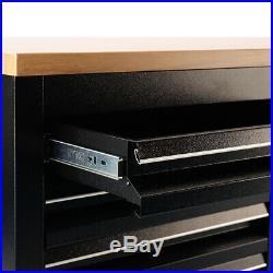 10/15 Drawers Mobile Tool Chest Storage Box Lockable Cabinet Garage Work Bench