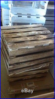 10 Plain Large Pine Wooden Storage Boxes/ Crates With Lid 40x50x33