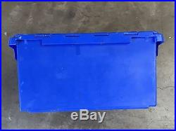 10 x Heavy Duty Plastic Storage/Removal Crates (Blue)
