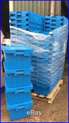 10 x Large Blue Heavy Duty Totes, Crates, Storage boxes holds 25kg