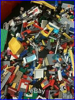 10kg Assorted LEGO bricks + Boards Large Storage Red Box Mixed Sets Bundle