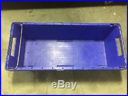 10pcs heavy duty industrial plastic box storage large distribution 150l strong