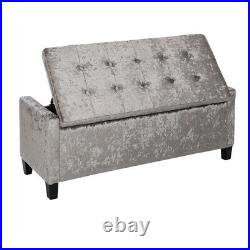 111cm Ottoman Pouffe Large Storage Box Stool 2 Seater Bench Seat Chest ZH0348