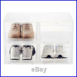 12 New Drop Front Shoe Box Men's Large Sneakers Storage Organizers
