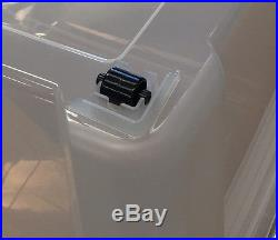 140L Clear Extra Large Stack Nest Plastic Storage Box Container with Castors