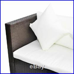 14 Pcs Garden Rattan Sofa Set with Large Storage Box Brown Outdoor Patio H2J0