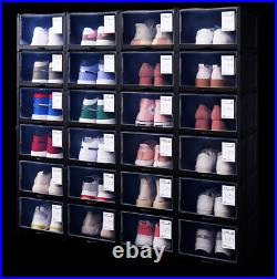 18 pc Full Set Large Stackable Drawer Shoe Box Organizer Shoes Storage Container