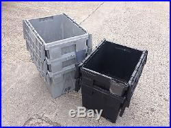 20 large plastic storage boxes tote boxes containers car parts toys shed storage