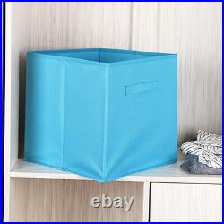 2X Foldable Canvas Storage Collapsible Folding Box Fabric Cube Cloth Basket Bags