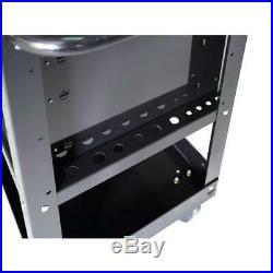 33 in 4 Drawer Mechanics Tool Box Utility Cart Smooth Drawer Storage in Black