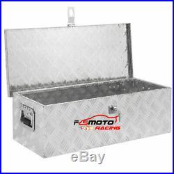 39X 13 X 10 Aluminum Tool Box Chequer Plate Van Trailer Chest Truck Storage