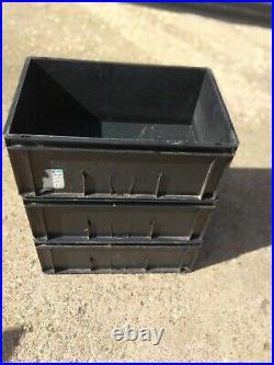 40 x Heavy Duty Industry standard Black Euro Boxes Warehouse Storage 60-40-23cm