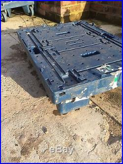 50 Large Heavy Duty Tote Crates Boxes 9 depth Plus FREE Tote Trolley