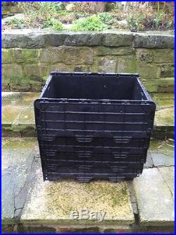 50 Large Heavy Duty Tote Crates Boxes SUPER STRONG