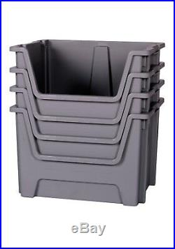 50 Litre Stacking BIG Plastic Open Fronted Recycling Plastic Storage Box Bins