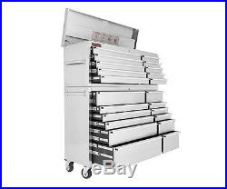 54 Stainless Steel Large Tool Box Chest Roll Cab Storage Brand New