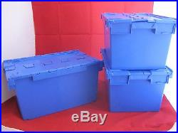 5 LARGE New Plastic Storage Crates Box Container 80L