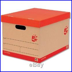 5 Star Storage Cardboard Boxes Large Brown & Red from £1.48p ex VAT