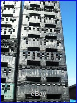 5 X large plastic collapsible pallet boxes magnum crates storage