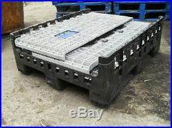 5 large plastic collapsible pallet boxes magnum crates storage