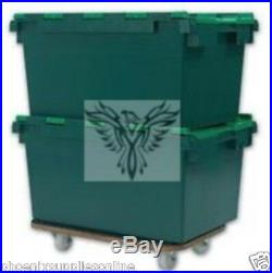 5 x Large Plastic Storage Removal Crates 78 litre, also known as Gear gulper box
