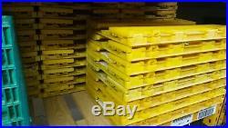 600 60x40cm Folding Stack Crates Commercial Food Grade Tough Strong bulk job lot