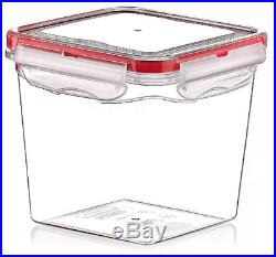 6 Litre Large Air Tight Containers Boxes Clear Plastic Food Storage Container