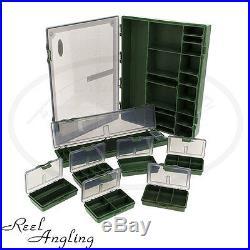 1 Carp Coarse Fishing Box /& Hair Rig Board Large Tackle Box Storage Ngt 7+1 4