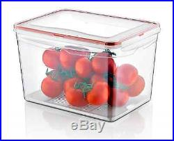 9 Litre Large Air Tight Containers Boxes Clear Plastic Food Storage Container