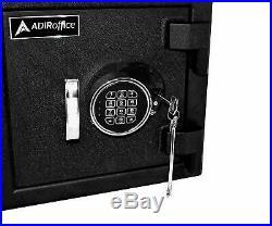 AdirOffice Black Steel 27 in. Home Business Mountable Cash Drop Box Storage Safe