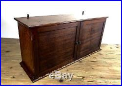 Antique Wooden Storage / Stationary Cabinet / Cupboard / Large / Filing Box