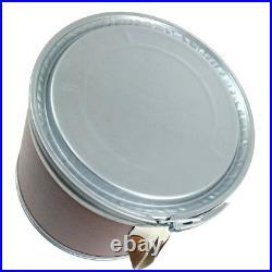 Authentic HERMES Logos Drum Saddle Storage Box Can Brown Silver Vintage AK25433e