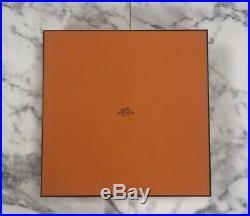 Authentic Hermes Handbag Storage Gift Box + Tissue Paper/Pillow 13.5 x 13.5 x 5