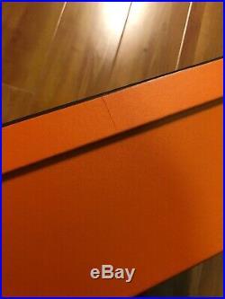 Authentic Hermes Large Empty Storage Box Birkin Kelly Herbag 14 X 11 X 4.5 Inch