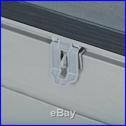 Azuma Garden Deck Box Storage Chest Outdoor Home Patio Shed Garage Plastic 680L