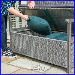 BEAUTIFUL Rattan Storage Bench 150L Garden Outdoor Organizer Furniture Seat