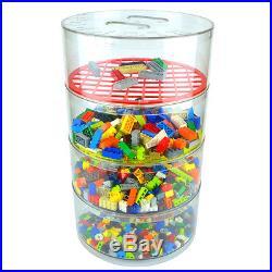 BLOKPOD Toy Lego Storage Box Plastic Stacking Boxes Organiser Large