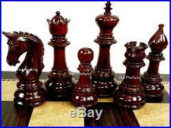 BUD ROSEWOOD Large Staunton LUXURY Chess Set Ebony Board Flat Storage Box
