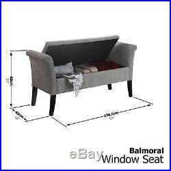 Balmoral Window Seat Ottoman Storage Box Large Blanket Box Bench Footstool