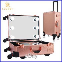 Beautify Large Vanity Make Up Mirror Beauty Box Cosmetics Storage Lockable Case