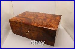 Big Wooden Jewelry Box, Large Jewelry Box With Two Storage Level, Decorative Box
