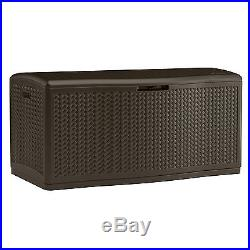 BillyOh Suncast Extra Large Double Walled Plastic Storage Deck Box 469 Litre