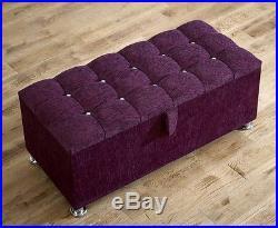 Blanket Box Storage Ottoman Pvc/velvet & Chenille Toy Large Footrest Foot Stool