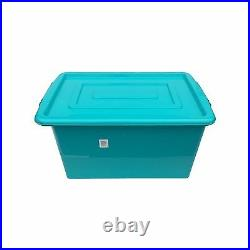 Blue Plastic Large 52l Litre Storage Box Tub Container With LID Toy Box / Kids