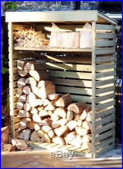 Brand New Boxed Large Wooden Log Store Firewood Outdoor Storage Heavy Duty
