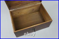 Brown Wooden X Large Treasure Chest Box Memory Box Souvenir Storage SO22bL