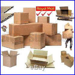 CARDBOARD BOXES Brown Single & Double Wall for Storage Postal Moving Day Packing