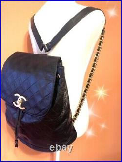 CHANEL vintage Backpackbeautiful goodsLarge volume With box and storage bag
